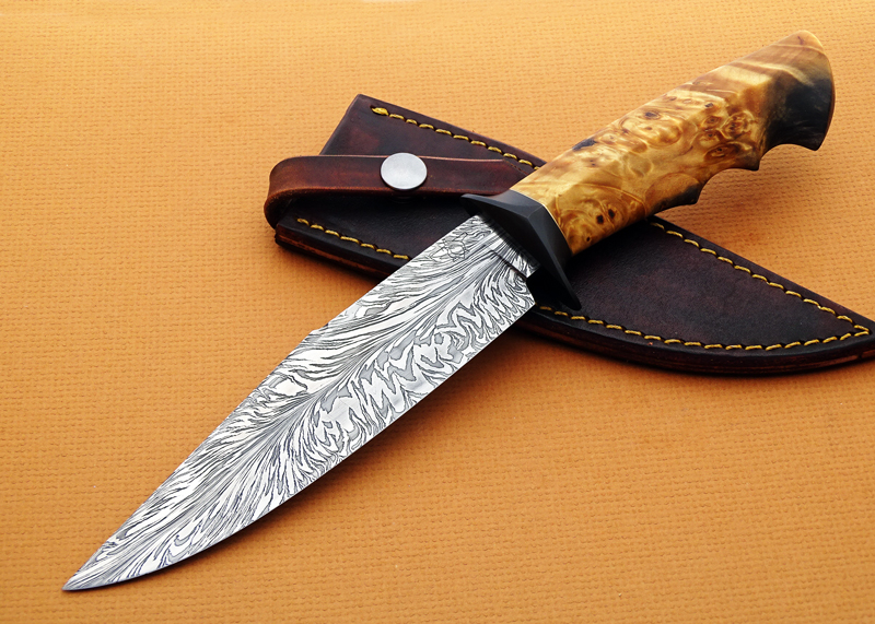 Deibert-Feather-Damascus-Burl-Fighter