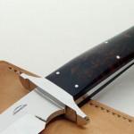 Schuyler Lovestrand sub-hilt fighter fixed custom knives