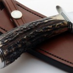 Mike Craddock stag fighter fixed custom knives