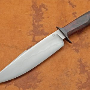 Mike Deibert ABS Journeyman Smith forged bowie fixed custom knife