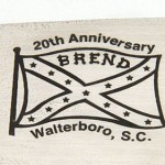 Walter Brend 20th anniversary hatchet fixed custom knife