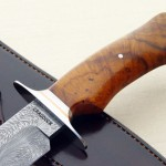 Mike Craddock damascus fixed custom knives