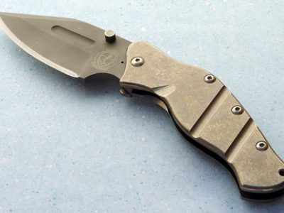 Sniper Bladeworks LPC TI folder folding custom knife
