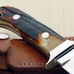 John Young stag dagger fixed custom knives Robertson's Custom Cutlery