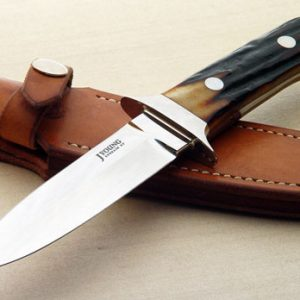 John Young stag dagger fixed custom knife