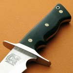 Walter Brend fixed custom knife handle