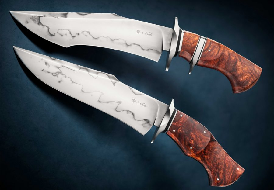 Spencer Clark brute bowie fixed custom knife