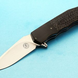 Andre Thorburn silver folder folding custom knives