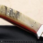 Zane Blackwell hunter fixed custom knife handle