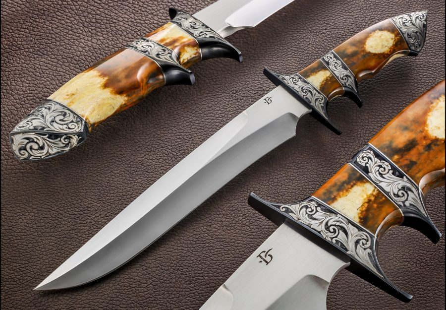 David Broadwell sub-hilt fixed custom knife