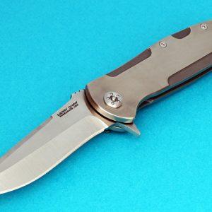 Larry Chew tactical folder folding custom knives Robertson's Custom Cutlery