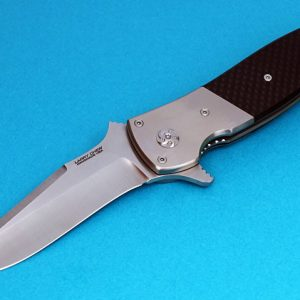 Larry Chew slayer folder folding custom knives Robertson's Custom Cutlery