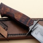 Mike Deibert fixed custom knives handle