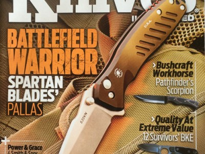 Knives Illustrated magazine March April 2016 les robertson article