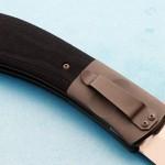 CH Morris prototype folder clip folding custom knives