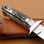 Schuyler Lovestrand stag chute handle fixed custom knife Robertson's Custom Cutlery