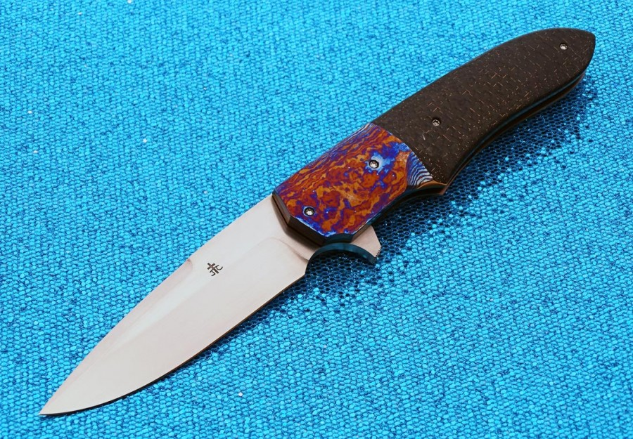 Jason Clark bronze folder folding custom knife