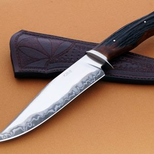 Claudio Ariel Sobral stag fighter fixed custom knife