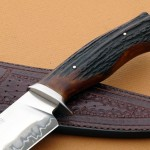 Claudio Ariel Sobral stag fighter handle fixed custom knives