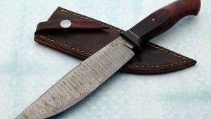 Mike Deibert ABS Journeyman Smith forged damascus camp fixed custom knife