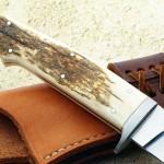 Schuyler Lovestrang hunter back of handle fixed custom knives