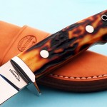 Schuyler Lovestrand hunter knife handle fixed custom knives