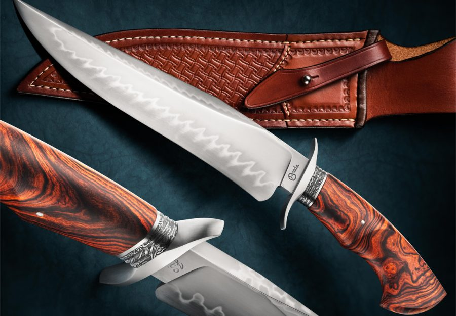 Ben Breda bowie fixed custom knife