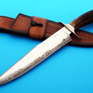 Claudio & Ariel Sobral ABS Journeyman Smith forged bowie fixed custom knife