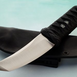 RJ Martin fixed custom knife with sheath