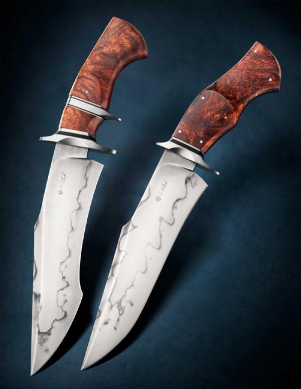 Spencer Clark brute bowie fixed custom knife