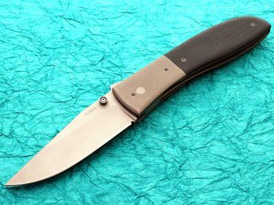 Kit Carson Large Model 4 folder folding custom knives Robertson's Custom Cutlery