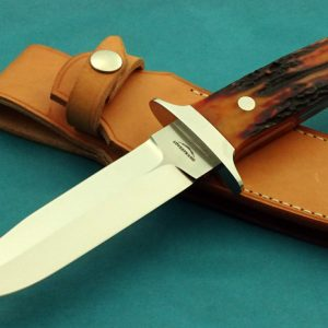 Schuyler Lovestand Wilderness Stag Fighting Custom Handmade Knife