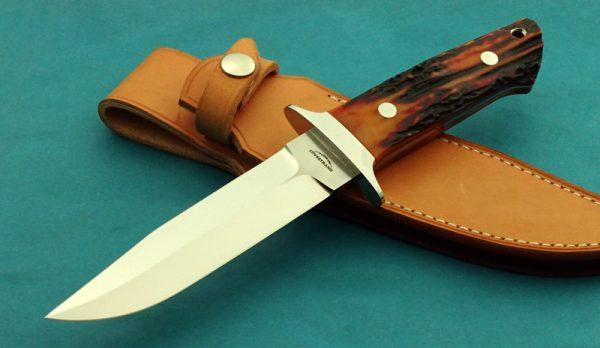 Schuyler Lovestand Wilderness Stag Fighting Custom Handmade Knife
