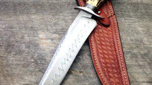 Ben Breda, ABS Journeyman Smith, Stag Hamon Bowie, ABS Journeyman Smith fixed forged custom knife