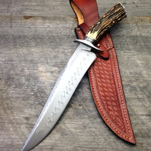 Ben Breda, ABS Journeyman Smith, Stag Hamon Bowie, ABS Journeyman Smith fixed forged custom knife