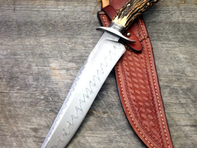 Ben Breda, Stag Hamon Bowie, ABS Journeyman Smith fixed custom knife