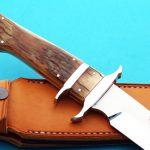 Schuyler Lovestrand sub-hilt fighter presentation fixed custom knife handle