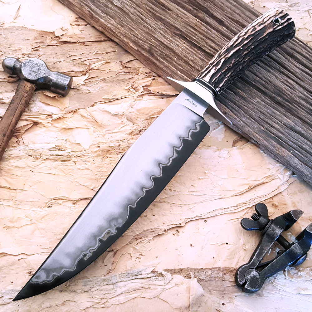Shawn McIntyre ABS Master Smith forged san mai bowie fixed custom knives