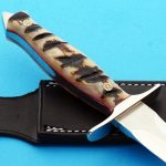Walter Brend presentation dagger handle fixed custom knife