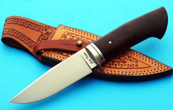 Josh Fisher koa hunter fixed custom knife Robertson's Custom Cutlery