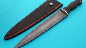 Tim Hancock forged damascus dagger fixed custom knife Robertson's Custom Cutlery
