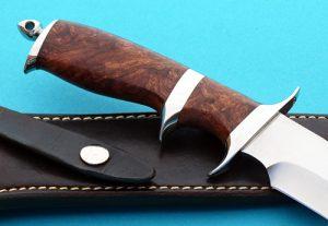 Jim Siska fighter handle back Robertson's Custom Cutlery fixed custom knife