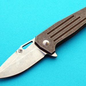 Jim Burke hitman stubby folder folding custom knives
