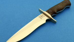 fixed custom knives Walter Brend 8 Model 2 TN knife back Robertson's Custom Cutlery tactical fixed blade