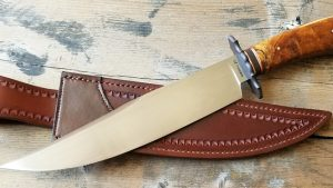 fixed custom knives Wess Barnhill BC bowie knife Robertson's Custom Cutlery bowies fixed blade