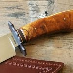 fixed custom knife Wess Barnhill BC bowie knife handle Robertson's Custom Cutlery bowies fixed blade