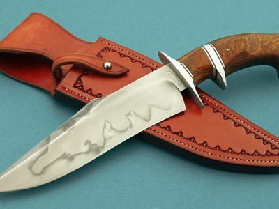 fixed custom knives Spencer Clark brute sub-hilt fighter knife Robertson's Custom Cutlery presentation fixed blade