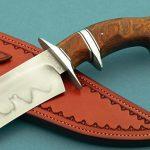 Spencer Clark Brute Sub-hilt fighter knife handle background Robertson's Custom Cutlery presentation fixed blade fixed custom knives
