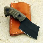 fixed custom knife Charlie Edmondson Elite pocket cleaver knife back Robertson's Custom Cutlery tactical fixed blade