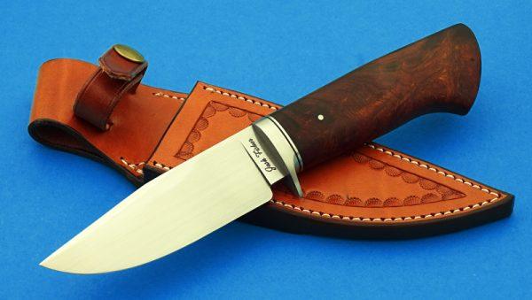 fixed custom knives Josh Fisher Hunter knife Desert Ironwood Robertson's Custom Cutlery hunters & skinners fixed blade